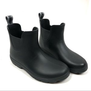 TOTES Chelsea Rain Boots Black Lightweight Size 8